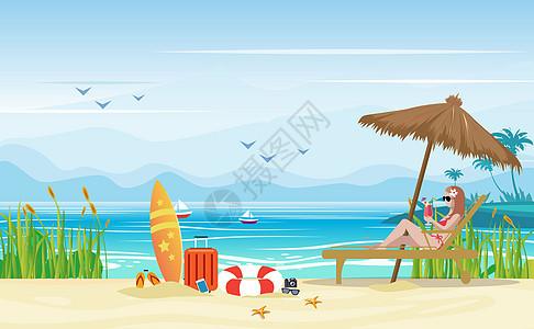 沙滩度假图片