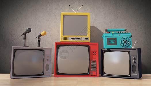 怀旧电视场景图片