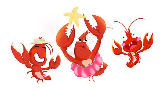 跳舞的小龙虾图片