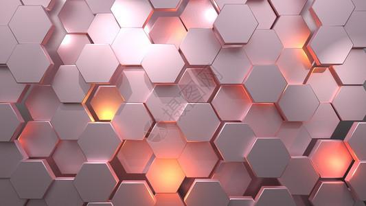 蜂窝网格空间背景图片