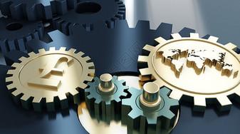 经济齿轮转动图片