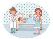 照顾生病的宝宝图片