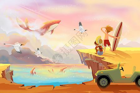 海之崖遇见奇幻世界图片