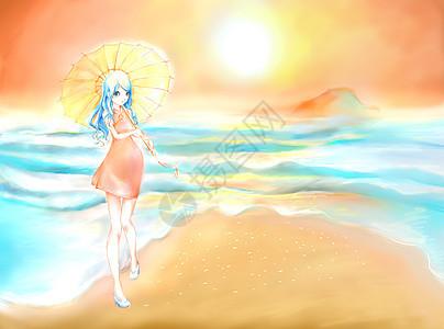 夏至海滩图片