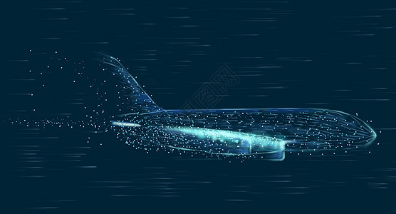 科技飞机飞速背景图片