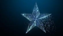 创意五角星背景图片