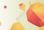 橙色抽象背景图片