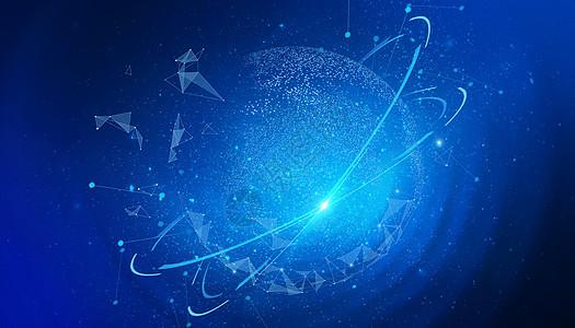 创意地球科技背景图片