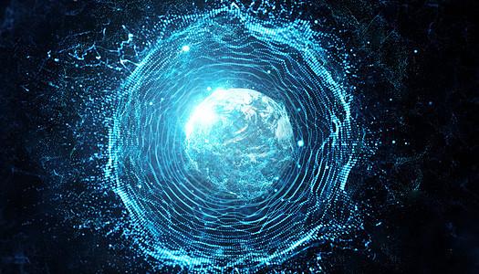 科技抽象黑洞背景图片