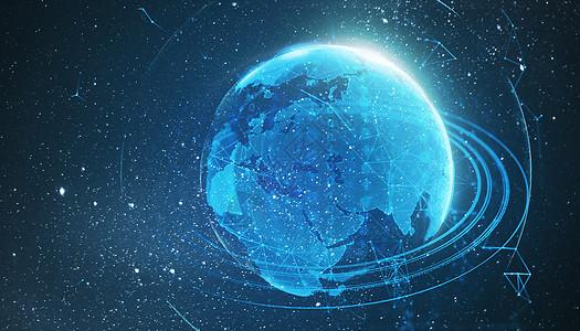 科技星空地球背景图片