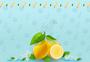 柠檬冰棍背景素材图片