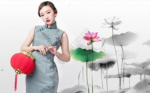 古典旗袍美女图片