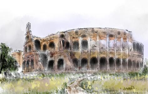 罗马角斗场图片