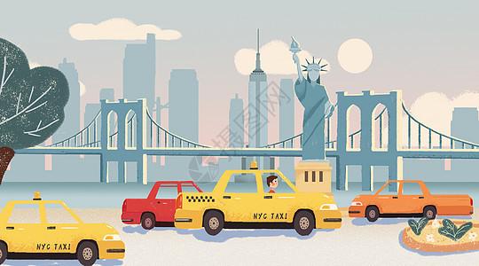 让插画带你去旅行 美国纽约图片