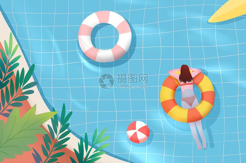 夏季游泳度假图片