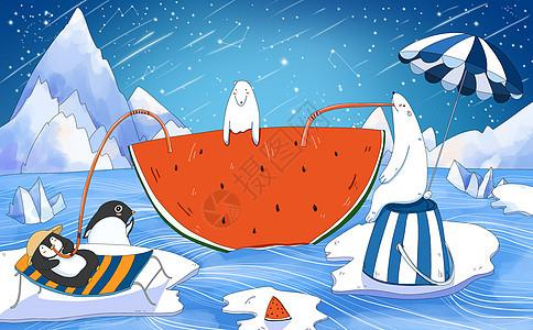 北极南极的夏天图片