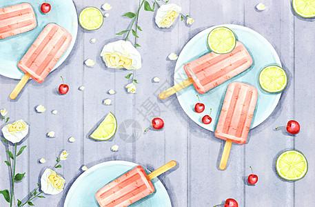 夏季清凉背景图片