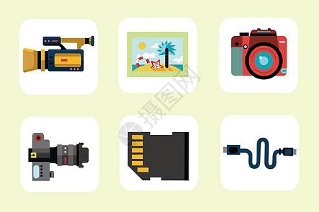 数码摄影图标图片