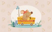十二生肖旅行插画之子鼠图片