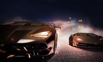 创意炫酷跑车场景图片