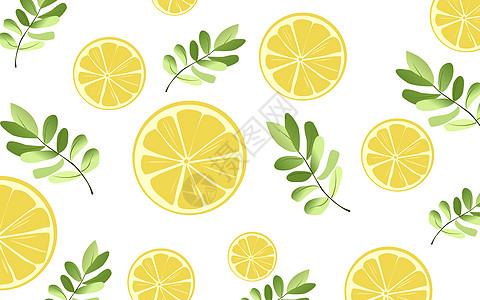 小清新水果背景矢量插图高清图片