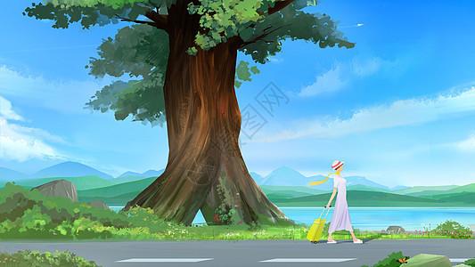 在路上的风景图片