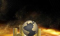 黑金流光星球背景图片