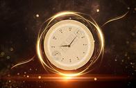 黑金时间概念背景图片