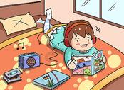 兴趣爱好漫画图片