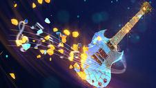 炫酷吉他音乐背景图片