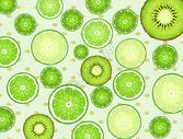 柠檬平铺背景素材图片