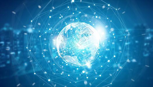 创意全球网络背景图片