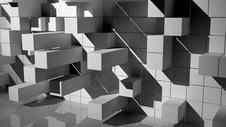 方块创意空间场景图片