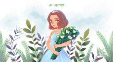 夏日繁花图片