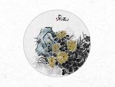 菊花中国风水墨画图片