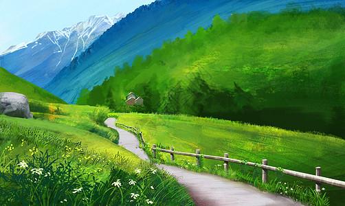 绿色山谷图片
