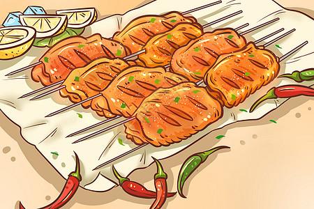 蜜汁柠檬黄金烤翅图片
