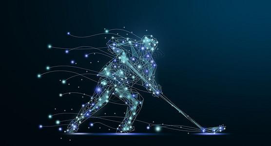 冰球运动员背景图片