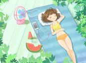 夏日假期清凉一夏图片