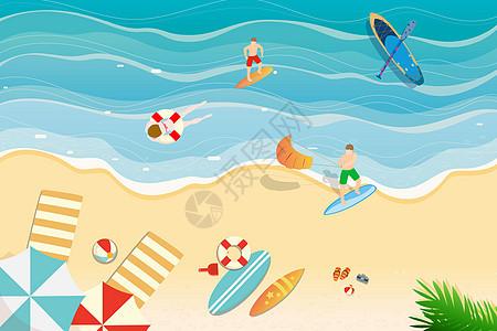 暑假海边度假图片