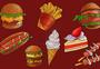 一组快餐食品图片