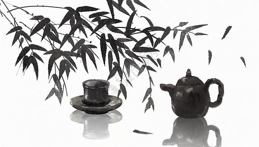中国风水墨茶图片