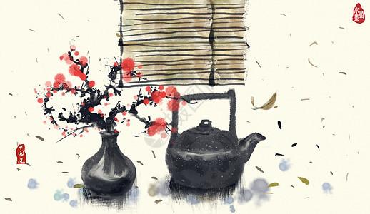 中国风水墨茶艺图片
