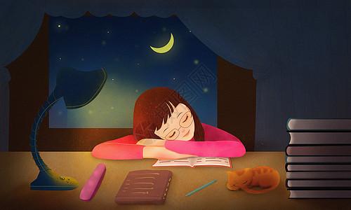 深夜学习图片