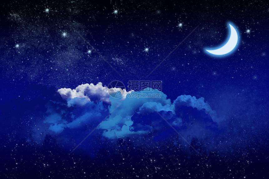 夏夜星空图片