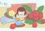 小暑夏天女孩插画图片