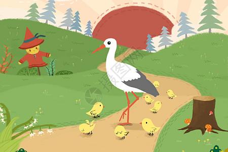 鹤立鸡群成语配图高清图片
