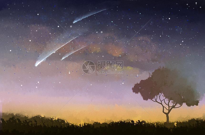 树上星空图片
