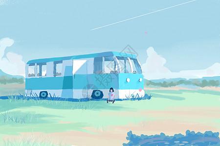 旅行插画图片
