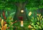 手绘儿童插画仲夏夜童话森林图片